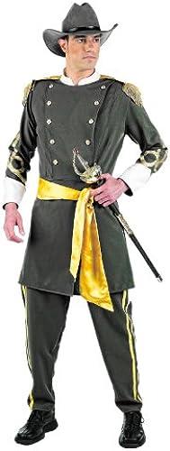 Südstaatler Kostüm, detailreiche Uniform mit Jacke, Hose, Hut und Gürtel - S