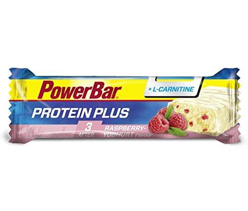 PowerBar Barrita Proteica Protein Plus L-Carnitina 15 x 35g Frambuesa y Yogurt