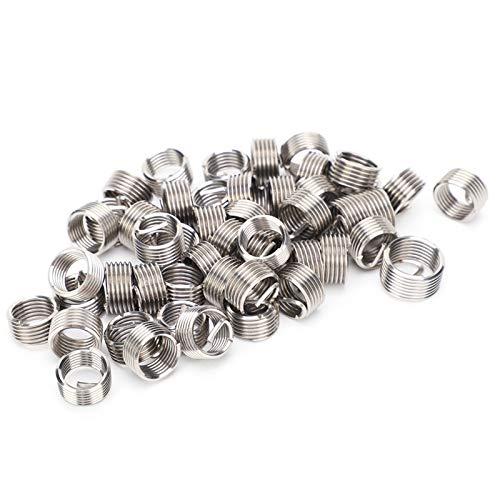 50 Uds M10 inserciones de hilo de alambre macho hembra herramienta de reparación de tuercas reductoras sujetador de acero inoxidable M10x1.25(2.5D)