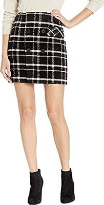 Romeo & Juliet Couture Womens Plaid Mini Skirt