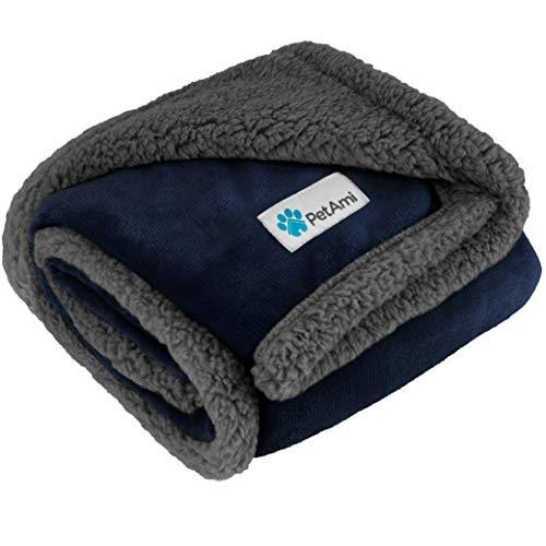 PetAmi Premium Manta para cachorros | Manta para perros pequeños para gatos, gatos, suave, cálida, felpa, manta de sherpa reversible – 30 x 40 pulgadas