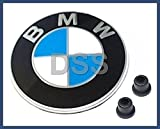 'BMW Genuine Hood Roundel Emblem with 2 Grommets for All Model and for Trunk of E32/e38 7-series From 86 - 01, E34 5-series From 88 - 95, E36 3-series From 90 - 99'