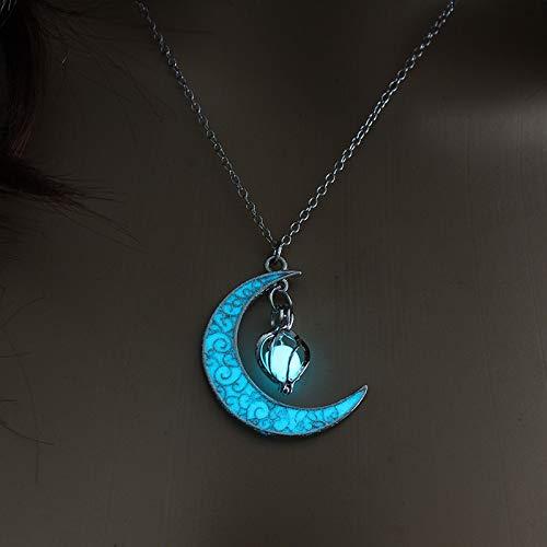Colar de Lua Brilhante Colar de Cristal | Frete Grátis (Azul)