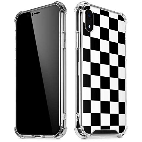 Skinit Clear Phone Case for iPhone XR - Officially Licensed Skinit Originally Designed Black and White Checkered Design