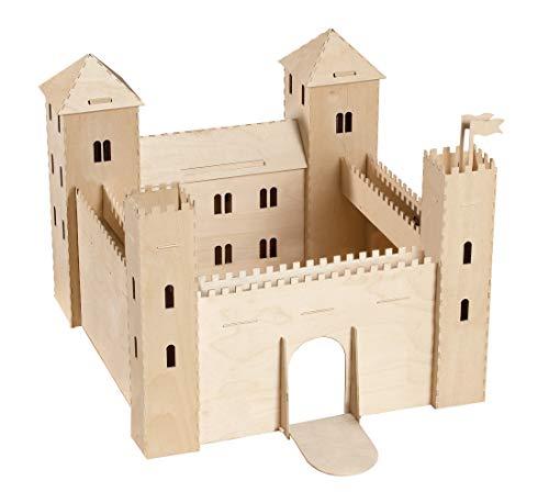 Pebaro 887 Holzbausatz 3D Puzzle Ritterburg