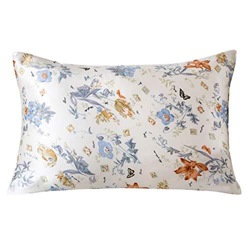 SLPBABY Silk Pillowcase for Hair and Skin with Hidden Zipper Print (King, Pattern 23)