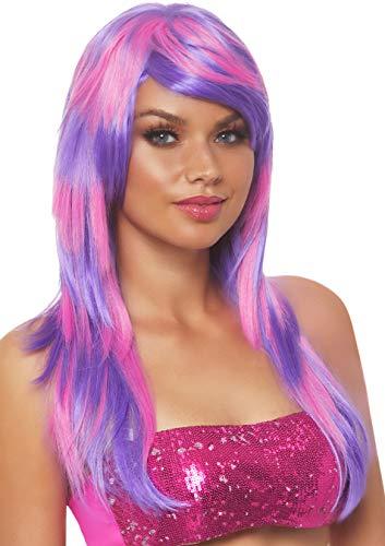 Leg Avenue A2767 - gelaagde twee toon pruik, dames carnaval kostuum carnaval, één maat, roze/paars