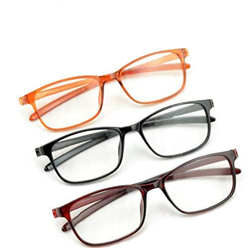 JIGAN Computer leesbril voor vrouwen mannen Blue Light Blocking veerscharnier Fashion Readers (verpakking van 3)
