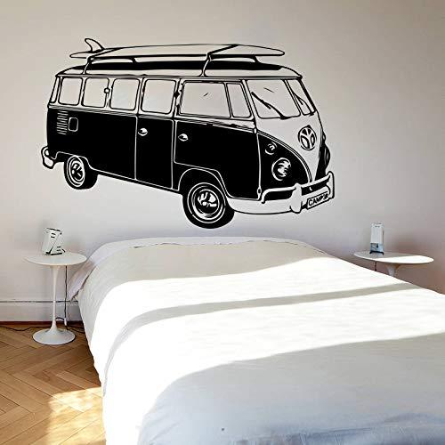 juntop Large Surf Camper Van Wall Sticker Playroom Bedroom VW Beach Car Vehicle Auto Summer Wall Decal Kids Room Vinyl Home decor