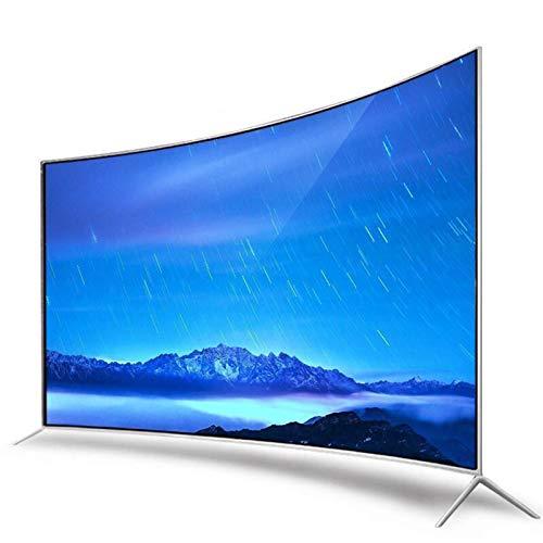 Televisor 4K curvo de 55 pulgadas, TV LCD elegante de la red WiFi de la pantalla LCD a prueba de explosiones, Instale Smart TV con función de proyección, Compatible con HDMI, USB, AV, VGA