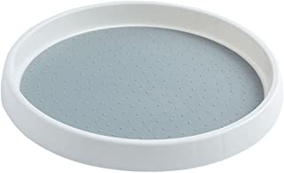 Homyl ターンテーブル怠惰なスーザンキャビネットオーガナイザーコレクションメーキャップオーガナイザープラスチック棚の陳列台の浴室のパントリーの虚栄心冷蔵庫のための回転スパイスのラック - 単層S