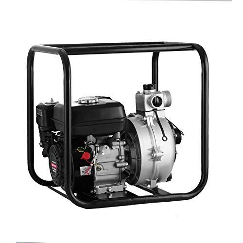 BuoQua 2 Zoll Benzin-Wasserpumpe 4-Takt Petrol Garden Water Pump 3.6 L Motorpumpe 6.5 HP 210 CC High Pressure Transfer Water Pump Petrol Wasser Pumpe mit 135m Kopflift (2 Zoll)