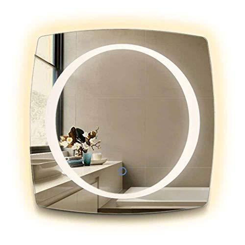 GYLNAI LED badkamerspiegel verlicht, diameter 20 inch ronde LED met muziekschakelaar 4000K warm licht voor opritten Washrooms BML-24