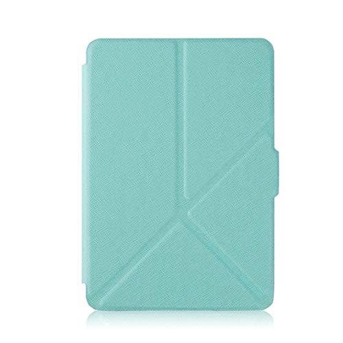 WUCHONGSHUAI Funda para Kindle,Smart Cover Case para Amazon Kindle Paperwhite 1 2 3 Origami PU Funda De Cuero con Soporte E-Reader para Kindle Paperwhite 2015 3 2 1, Azul