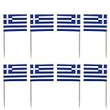 ABOOFAN 100 Stück Griechenland-Mini-Flaggen, handgehalten, kleine griechische Flaggen auf Stab,...