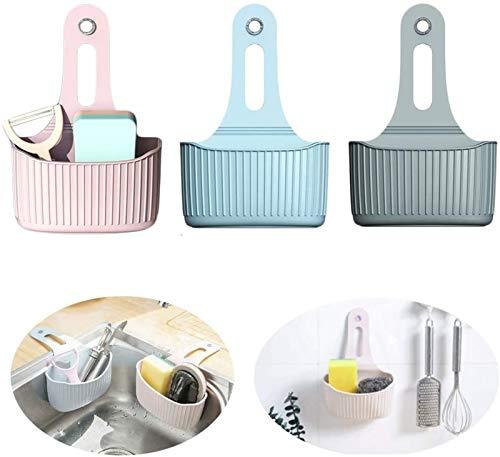 XINGDONG Copa de succión Cesta Colgante Faucet Almacenamiento Cesta de Almacenamiento Pequeño Cesta Cocina Cosas pequeñas Caja de Almacenamiento Caja de Almacenamiento Rack (3 PCS) Durable