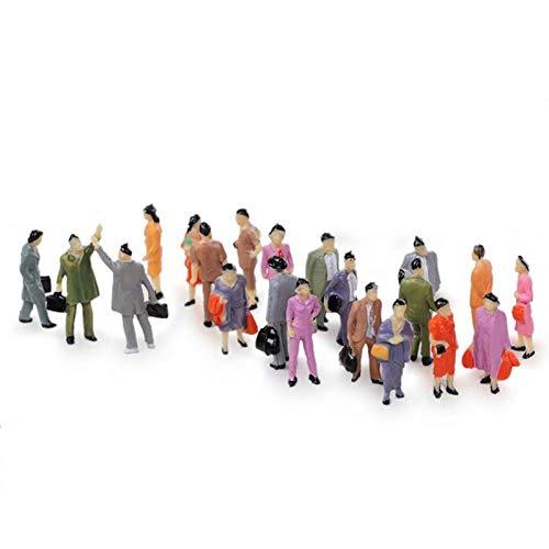 50 Stück 1:87 Sandtisch Modell Bösewicht bemalt Modell Zug Menschen Figuren Maßstab