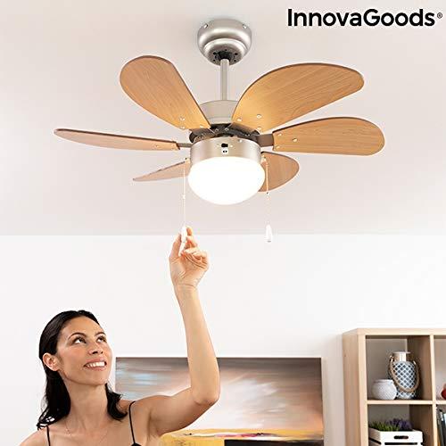 InnovaGoods Deckenventilator mit Licht, Ø 75 cm, 55 W