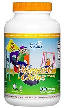 Nutri Supreme Vitamin C Chews 180 Wafers Cherry Flavor