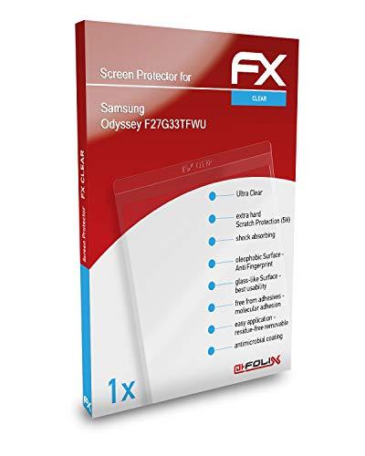 atFolix Schutzfolie kompatibel mit Samsung Odyssey F27G33TFWU Folie, ultraklare FX Bildschirmschutzfolie