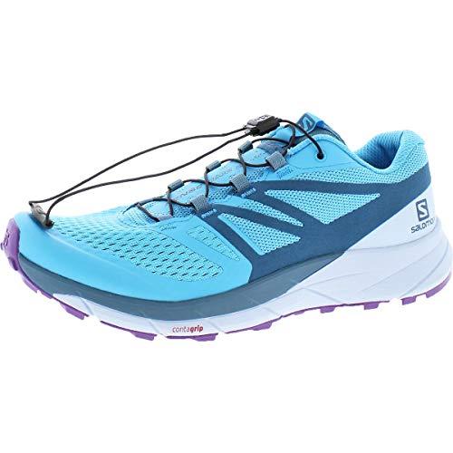 Salomon Women's Sense Ride 2 Trail Running Shoes, CYAN BLUE/Mallard Blue/Cashmere Blue, 6