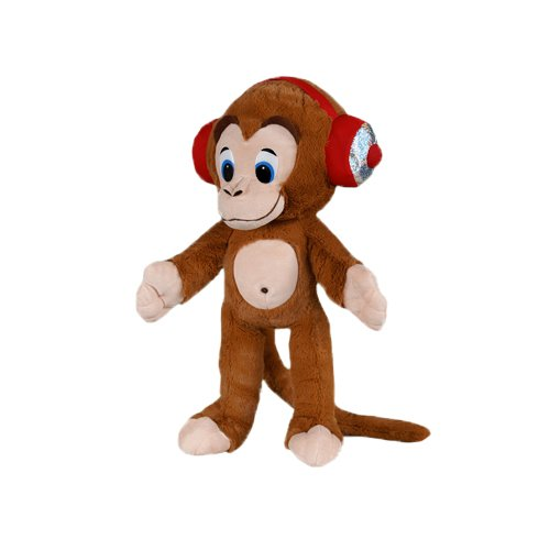 ToySource Rocker The Monkey Plush Collectible Toy, Brown, 8.5'
