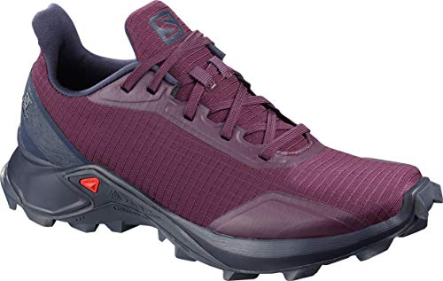 Salomon Women's Alphacross Trail Running Shoes, Potent Purple/Navy Blazer/India Ink, 8.5