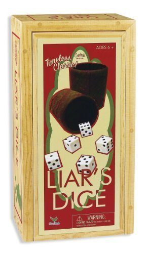Cardinal Games Liars Dice In Wood Box Retro Game by Cardinal Industries