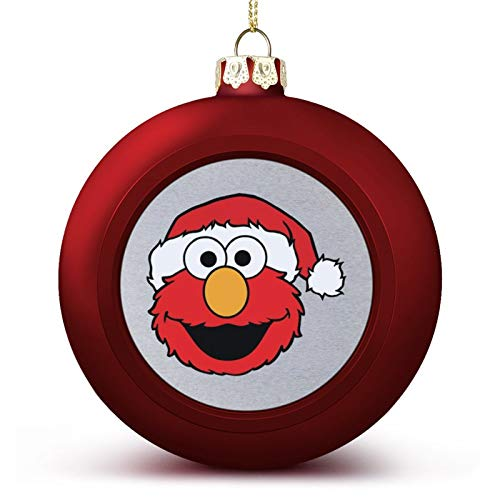 VNFDAS Ses-ame Street Elmo Christmas Hat Custom Christmas ball ornaments Beautifully decorated Christmas ball gadgets Perfect hanging ball for holiday wedding party decoration