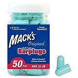 Mack's Ear Care Original Soft Foam Earplugs - Pack of 50 Pairs
