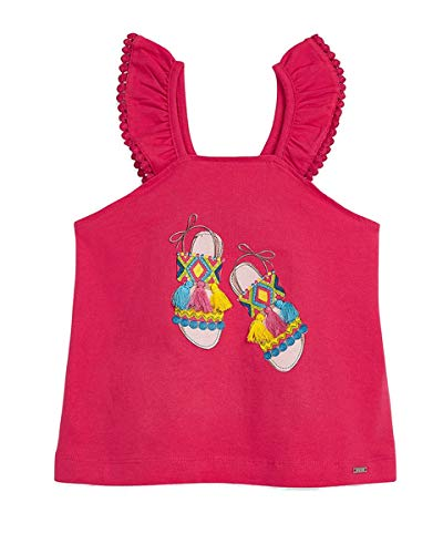 Mayoral - Camiseta de tirantes con sandalias para niña fucsia 104 cm(4 años)