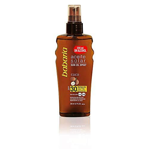 babaria Bräunungsöl-Spray Cocos SPF 30 200 ml