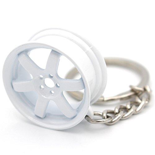 VmG-Store Felge Schlüsselanhänger Weiß Metall sehr edel und hochwertig
