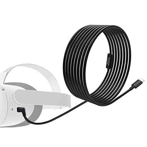NEWZEROL Insgesamt 6M / 20Ft Typ C Stabiles Datenkabel Kompatibel mit Oculus Quest/Oculus Quest 2 Link Steam VR, Verlängerungskabel mit Relaisverstärkerchip und USB 3.2 Gen 1-Kabel (Nur Kabel)