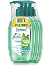 Himalaya Purehands Hand Wash Soap Tulsi & Aloe Vera Effectively Protects Your Hands from Germs While Maintaining the Skin's Natural Moisture Leve (3 x 250ml)