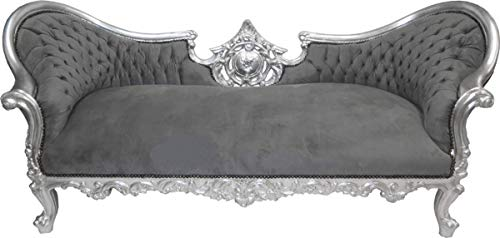 Barock Sofa Vampire Grau/Silber - Limited Edition - Lounge Couch