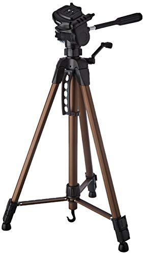 Hama Kamera Stativ Star 62 (Einstiger Dreibeinstativ mit 3-Wege-Kopf, Fotostativ mit 64-160cm Höhe, Kamerastativ passend für Spigelreflex- und Systemkameras) Champagner