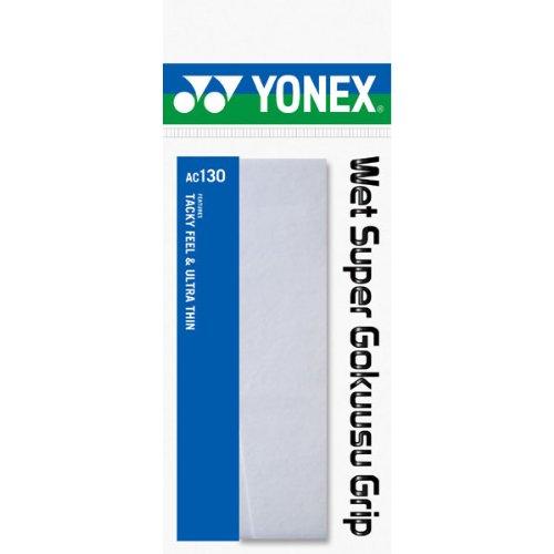 ヨネックス(YONEX) テニス バドミントン グリップテープ ウエットスーパー極薄グリップ (1本入り) AC130 ホワイト