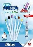 Pro-Clinic Slim-Soft Cepillo de dientes de cerdas muy finas con estuche transparente