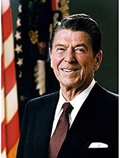Official Portrait US President Ronald Reagan Photo Art Print Canvas Premium Wall Decor Poster Mural