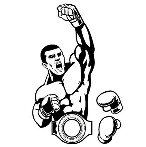 FACLLUKPP 3 Piezas Pegatinas de Coche 12,3 CM * 19 CM Boxeo Deportes portátil Impermeable calcomanía para Adolescentes, niñas, Motocicleta Bicicleta teléfono móvil Guitarra DIY calcomanía