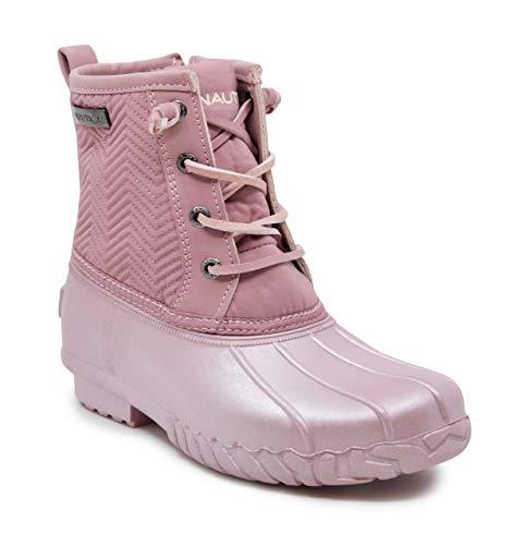 Nautica Kids Girls Truett Youth Waterproof Duck Boot Winter Shoe-Mauve Pearl -1