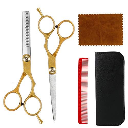 MojiDecor Haarschere Set, Friseurscheren Damen und Herren Profi Haarschere und Effilierschere für Salon, Friseur oder zu Hause