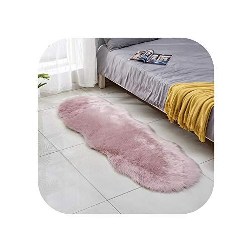 Star Harbor Shapers Teppich 5x7  Neuer künstlicher Schaffell-Teppich Weicher, bequemer Pelzteppich für Schlafzimmer Flauschiger Teppich für Wohnzimmer-Pink-600MMx1800MM
