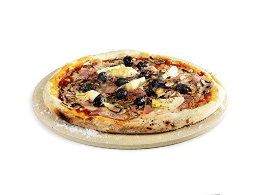Barbecook Plaque à pizza ronde pour barbecue gaz ou charbon, argile réfractaire, 36 cm