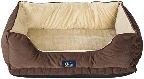 Serta Ortho Cuddler Pet Bed, Mocha