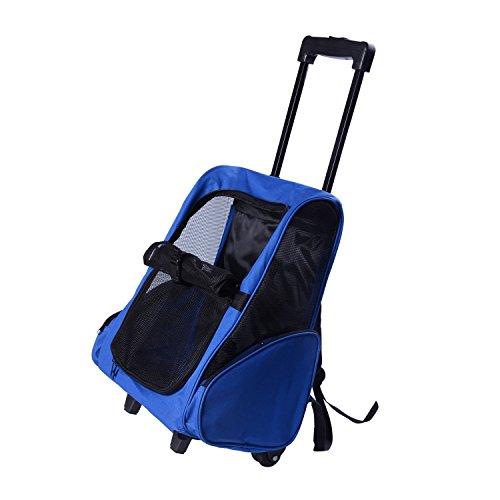 PawHut Hundetrolley Transporttasche Trolley Tragetasche Rucksack Hunde Hunde Trolley blau