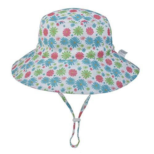 Stecto Sombrero de Sol para Bebé con Protección Solar, Gorras Transpirables Sun Fisherman con Correa Ajustable para la Barbilla para Senderismo Camping Aventuras al Aire Libre