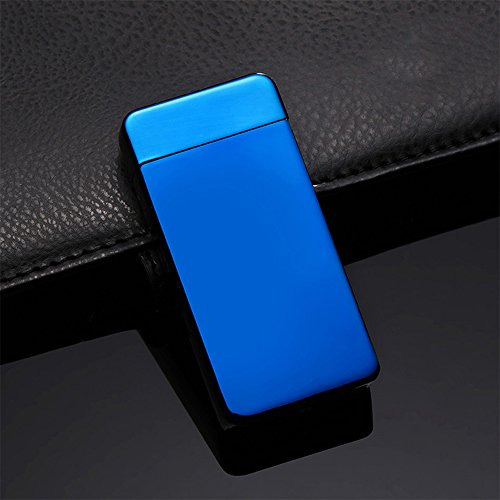 zmart プラズマライター 青 電子ライター アークライター usb充電式 風に強い 放電