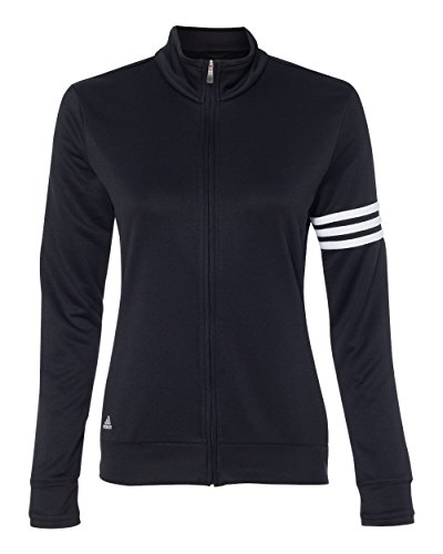 adidas Womens Climalite 3-Stripes Pullover (A191) -Black/Whit -3XL
